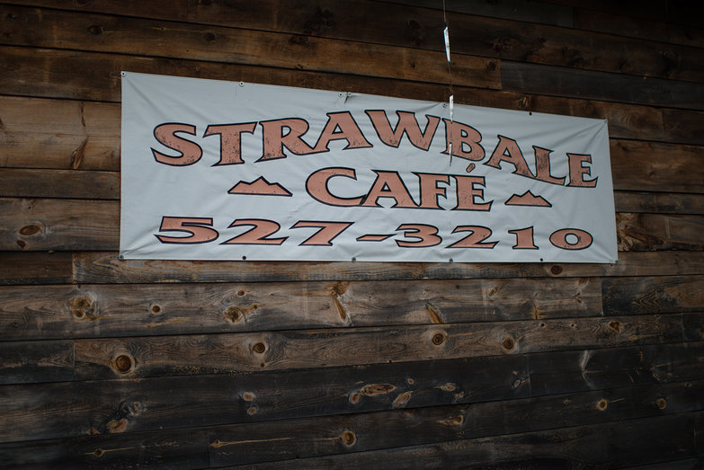 Strawbale Cafe Sign