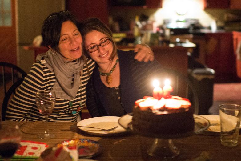 Greer & Tara & Cake
