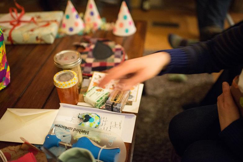 Presents at Tara's Surprise Party