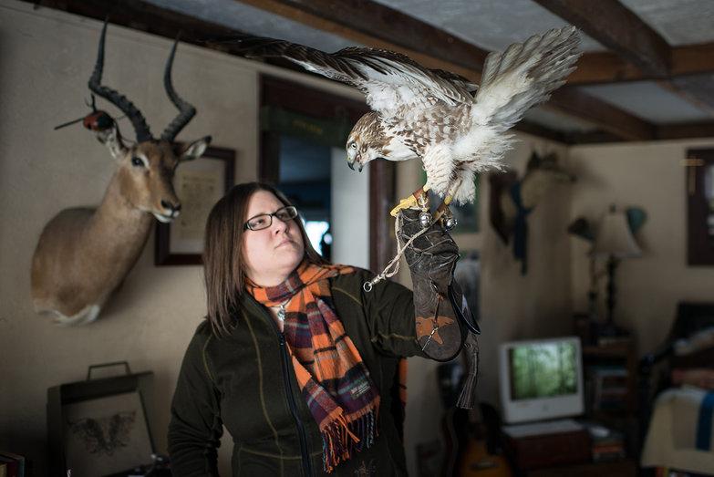 Jenna & Italics the Hawk