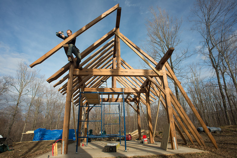 how to join three timber frame beams