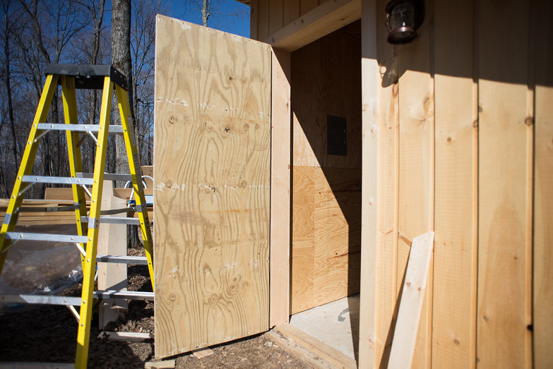 Attaching Solar Shed Door