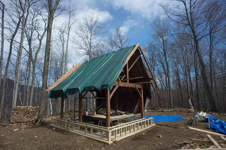 Cottage Timber Frame (Pony Wall in Progress)