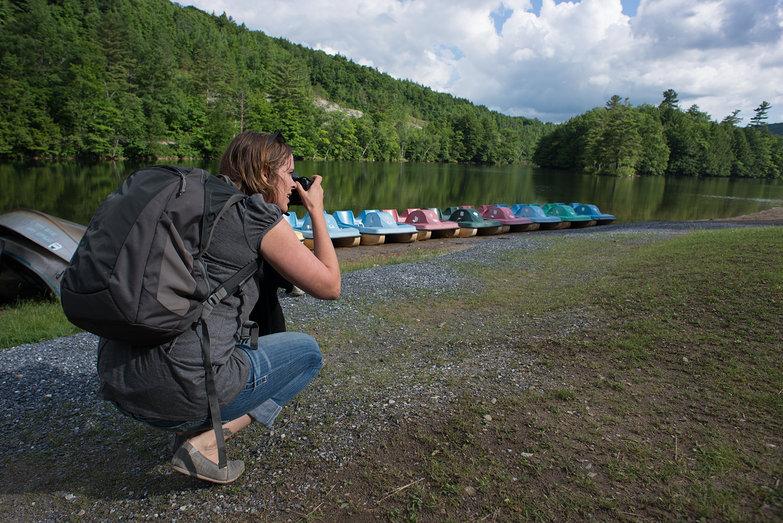 Natasha Taking Photos of Emerald Lake