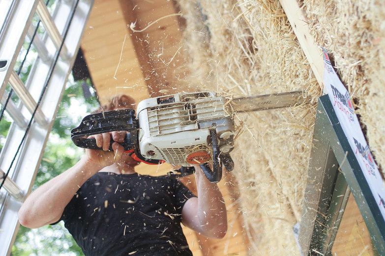 Tyler Chainsawing Bale (by Natasha)