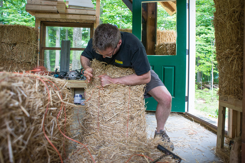 Dan Re-Tying Bale
