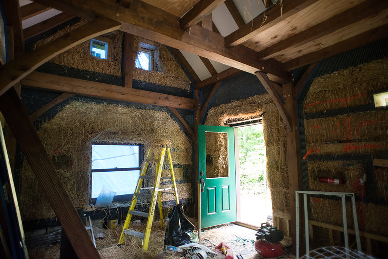 Straw Bale Cottage in Progress