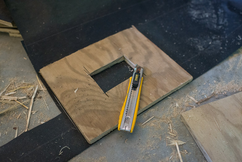 Straw Bale Building Outlet Box Plate Ready for Tar Paper