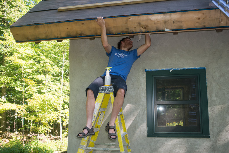 Carl Cleaning Rafter Tails