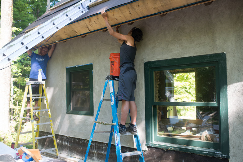 Carl & Anais Cleaning Rafter Tails