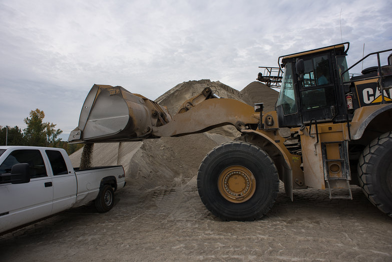 Loading Sand at Dailey's Yard