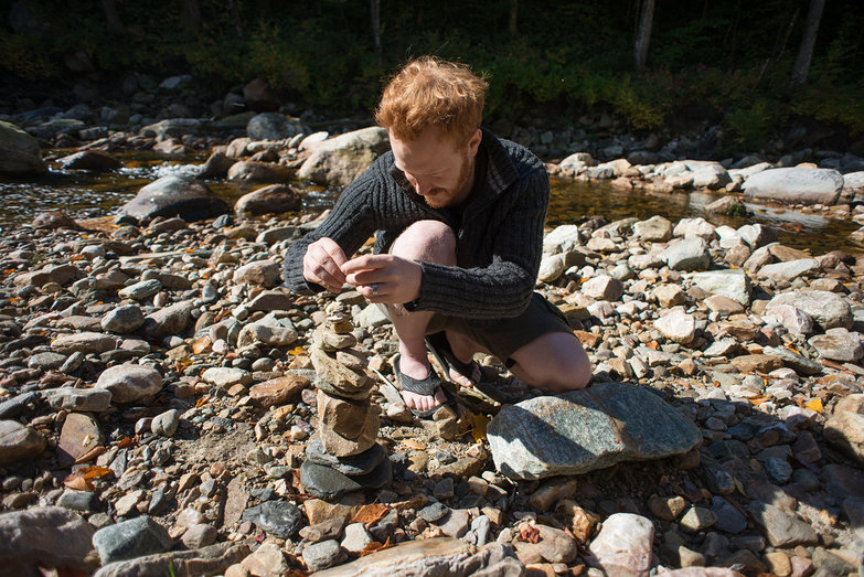 Tyler Stacking Rocks