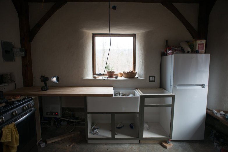 Off Grid Cottage Kitchen in Progress