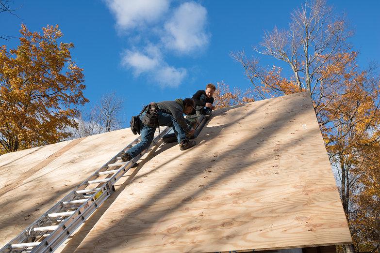 Donavin & Tyler Installing Skylight