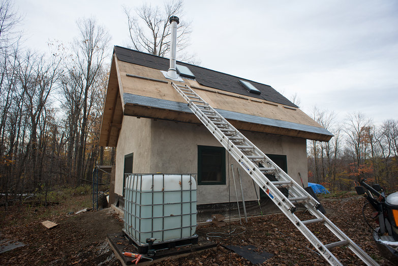 Chimney Installation on  Strawbale Cottage