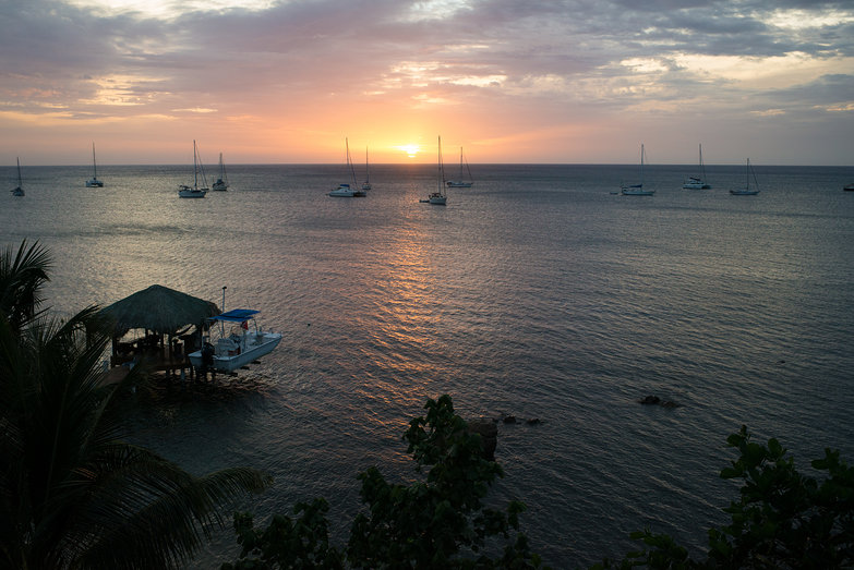 Sunset on Roatan