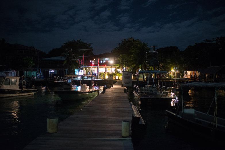 Thai Restaurant Pier in Roatan, Honduras