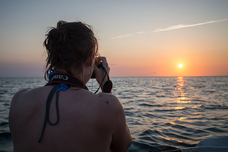 Natasha Photographing Sunset