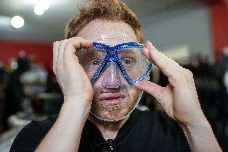 Tyler Testing Scuba Mask