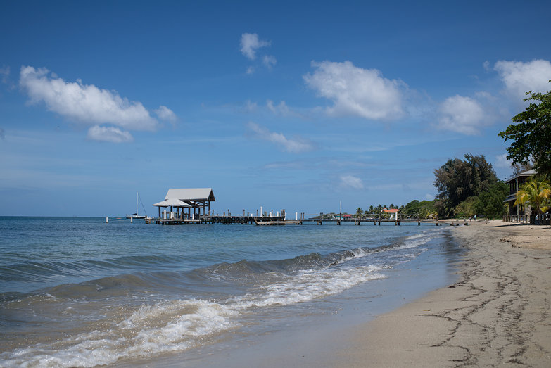 Roatan Beach on the Way to West End