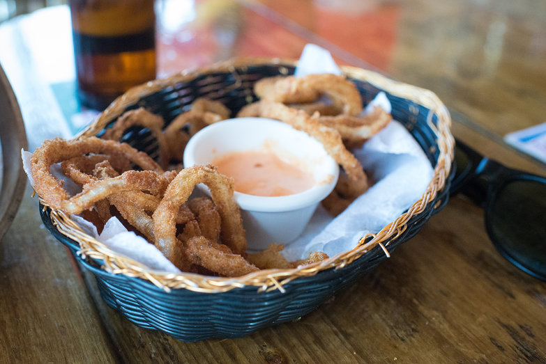 Onion Rings at La Sirena de Camp Bay