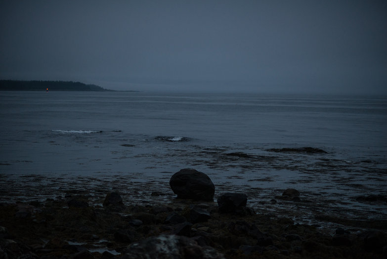 Maine Coast Near Campsite at Dusk