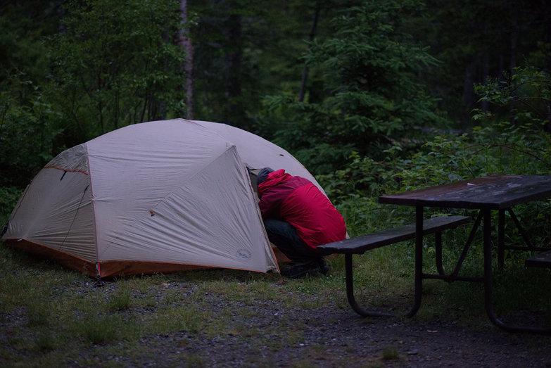 Lian in Tent