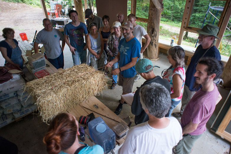 Going Slowly Strawbale Workshop 2015