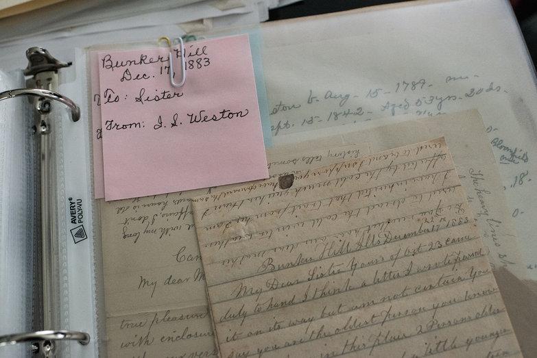 Letter Written in Bunker Hill, IL by Increase Sumner Weston