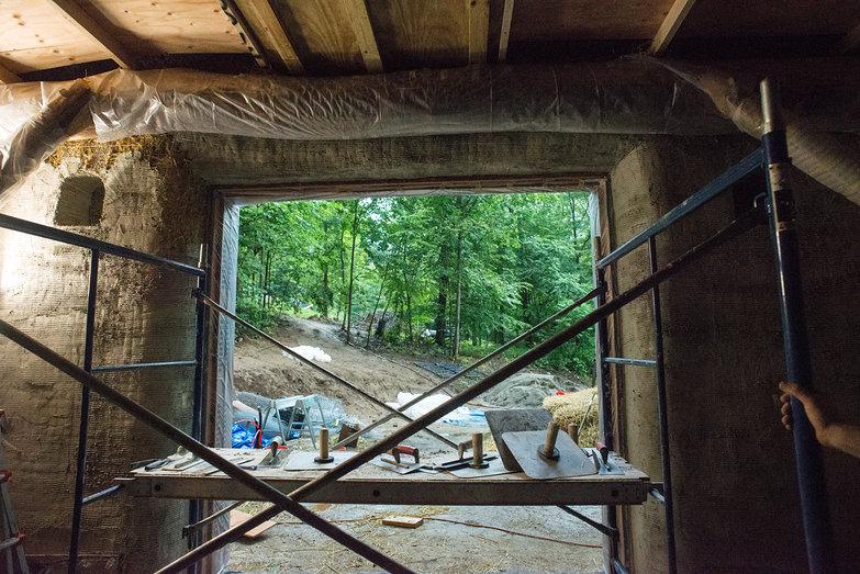Interior Plaster in Progress