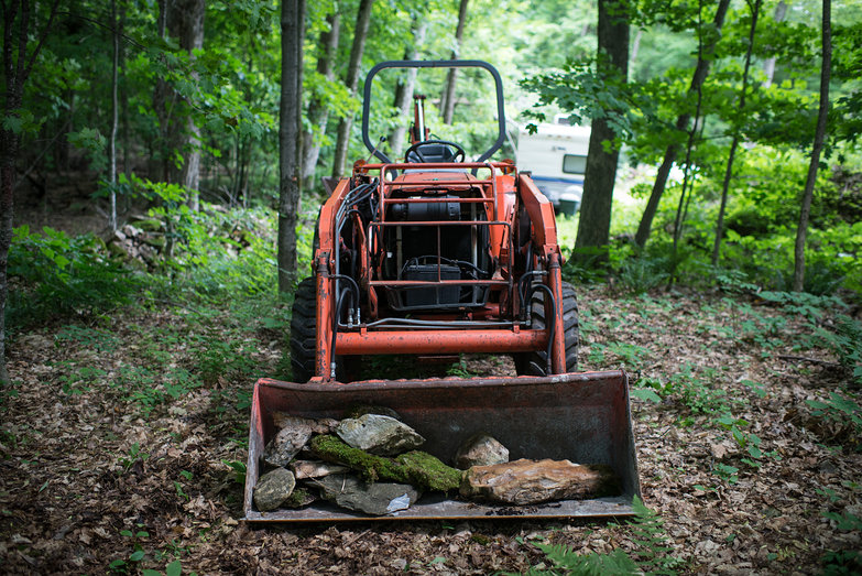Pete's Tractor with Stone