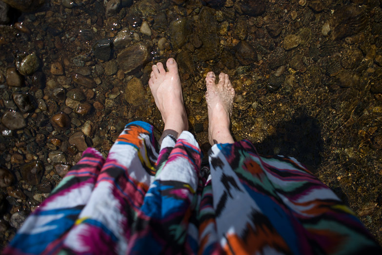 Tara's Feet in River