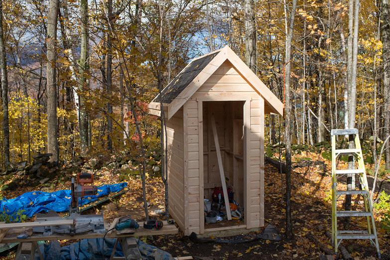 Outhouse in Progress