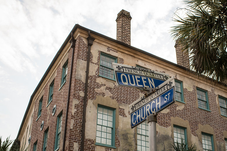 Corner of Queen St. & Church St. in Charleston, South Carolina