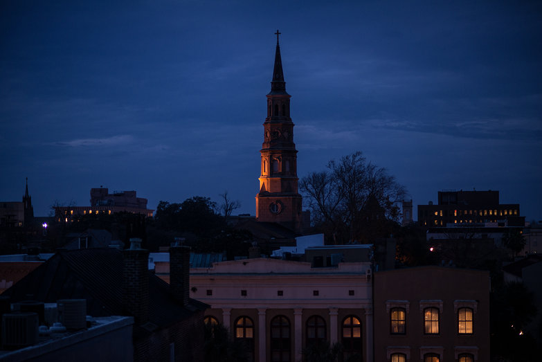 St. Philip's Church by Night