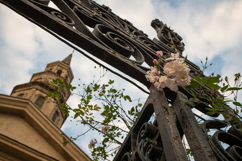 St. Philip's Church Gate & Flowers