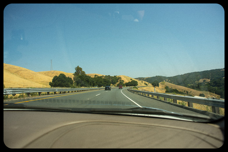 California View from Windshield