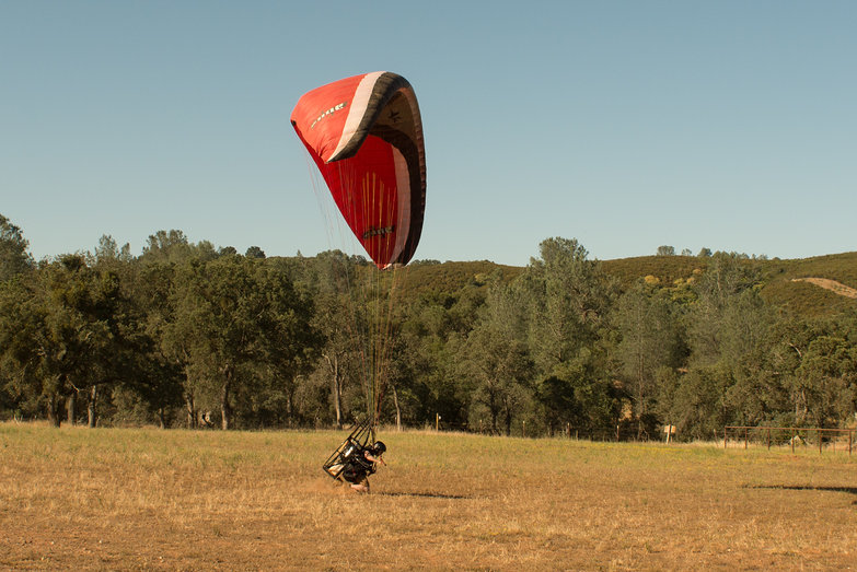 Tyler Landing on his Knees with a Blackhawk Airmax 220 Paramotor