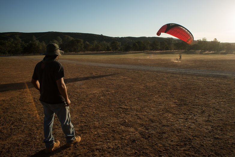 Tyler Kiting Paragliding Wing