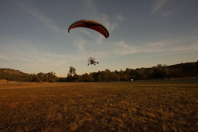 Tara Landing her First Flight (in BlackHawk LowBoy II Quad Paramotor)