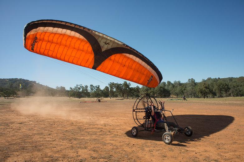 Tara Taxiing BlackHawk LowBoy II Paramotor