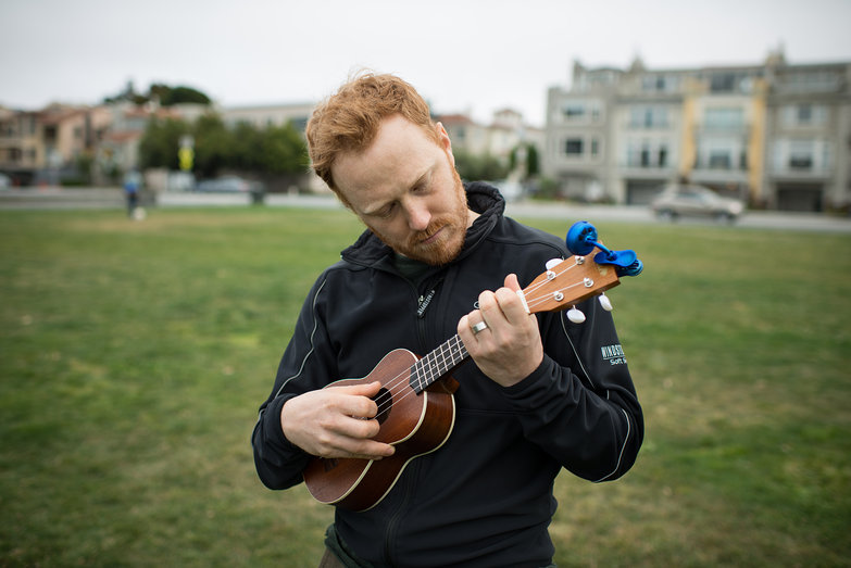 Tyler Playing Ukelele in Golden Gate Park