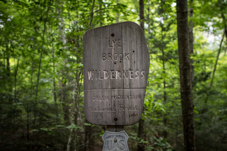 Lye Brook Wilderness Sign
