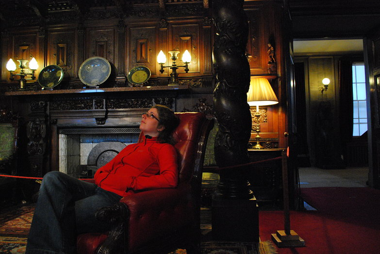 Relaxing in the Oak Room