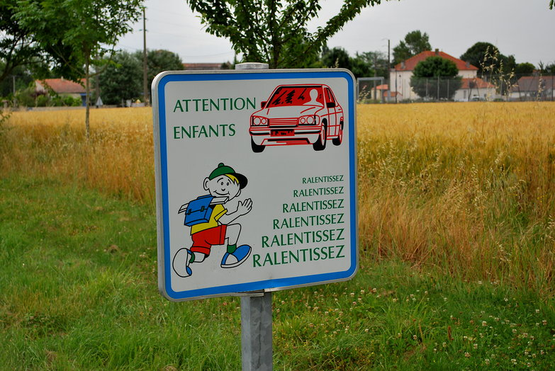 French Road Sign
