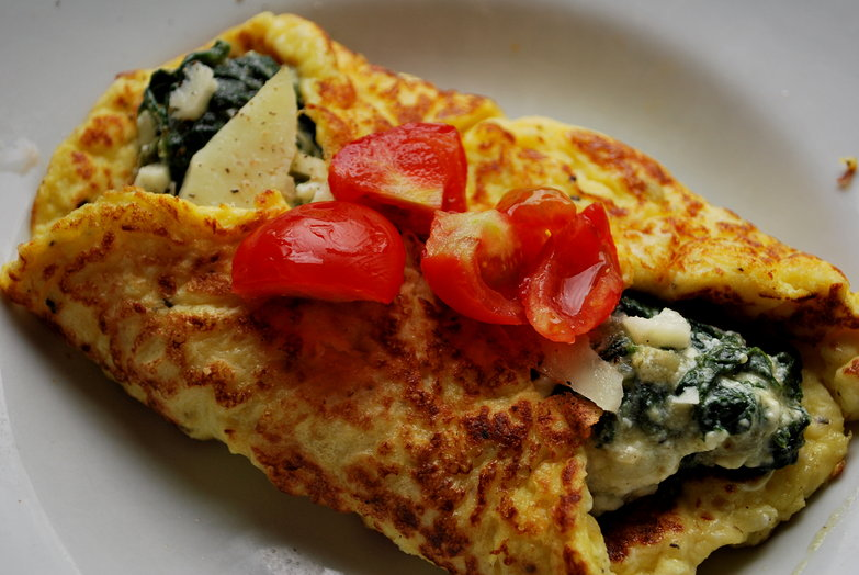 Spinach & Ricotta Omelette for Mom