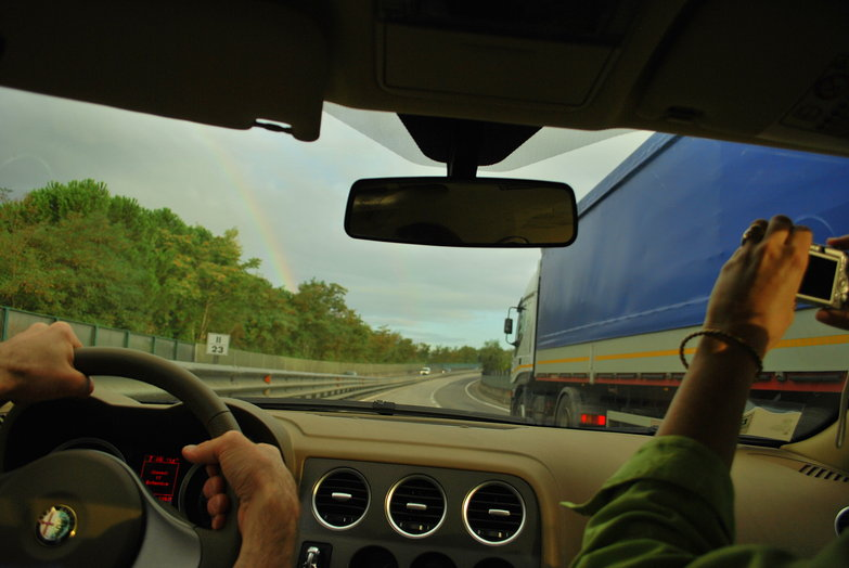 Driving to Florence