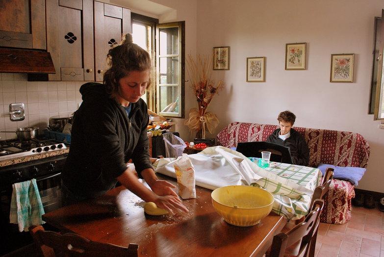 Tara Kneading Pasta Dough