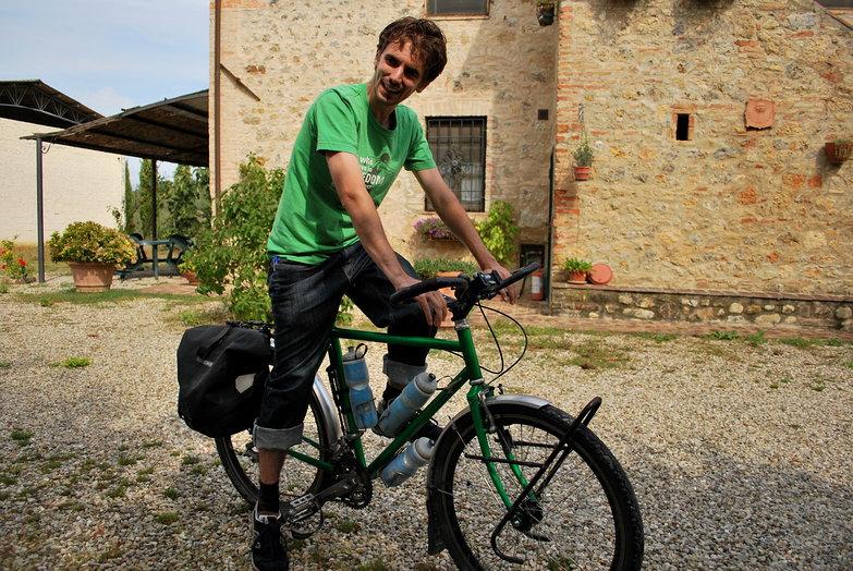Lian on Tara's Bike