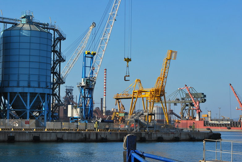 Piombino Port Cranes